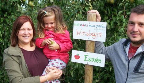 Make-a-Wish kids plukken Wensbos