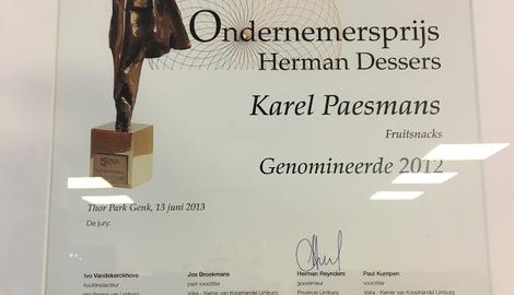 Fruitsnacks is genomineerd voor de Herman Dessersprijs!