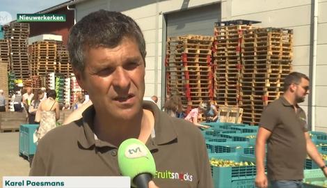 Fruitboer deelt gratis 50 ton appelen en peren uit