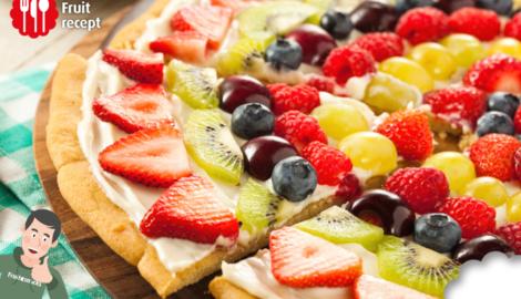 Pizza aux fruits