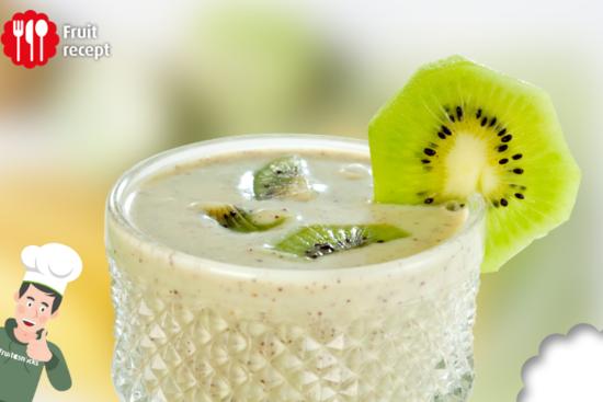 Smoothie van kiwi en banaan