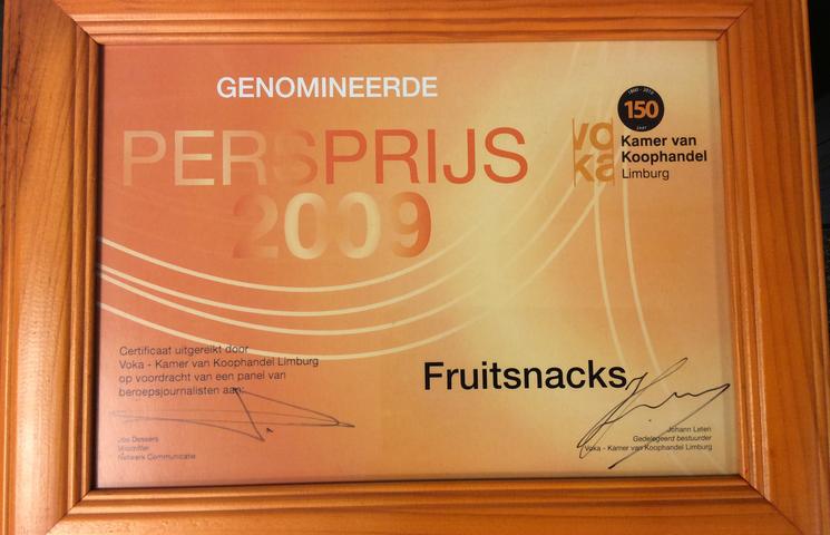 Fruitsnacks is genomineerd voor de Persprijs!
