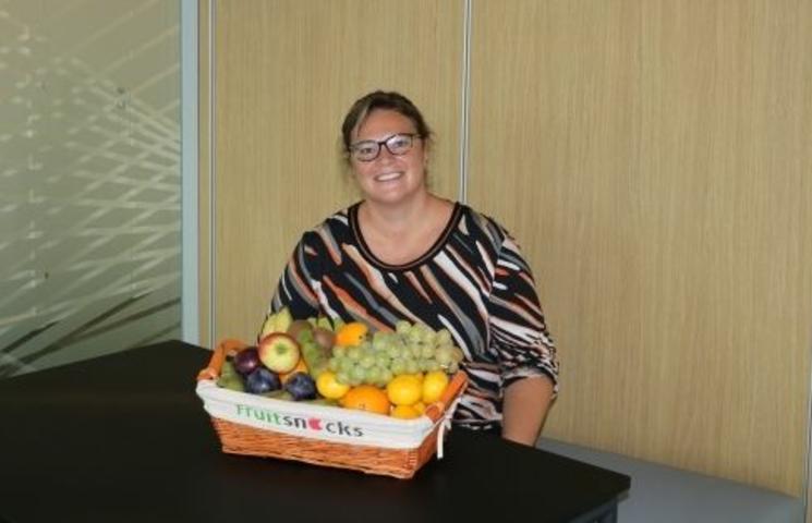 Fruit op het werk bij Arteco in Gent Oost-Vlaanderen