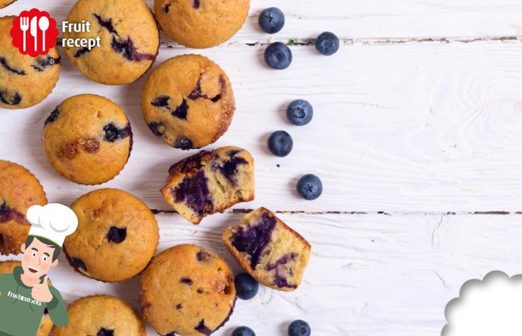 Muffins à la banane et à la myrtille